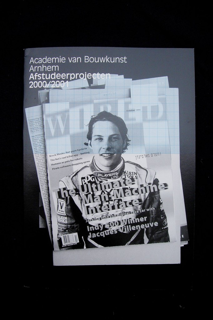 Matthijs Matt van Leeuwen, Yearbook Academy of Architecture Arnhem 2001, book design, Artez, HkA, grafisch ontwerp, graphic design