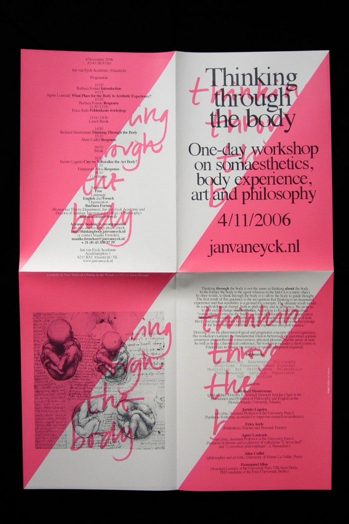 Matthijs Matt van Leeuwen, Jan van Eyck, Thinking through the body, Poster